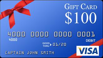 $100 Visa Gift Card Directv